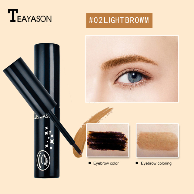 TEAYASON Eyebrow Dye 3 Color Eyebrow Pencil Long Lasting Waterproof Eyebrow Professional Makeup Eyebrow Gel Tattoo Cosmet Beauty 5