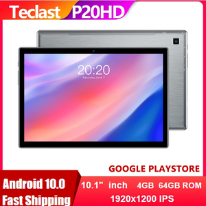 Teclast P20HD 4G Phone Call Tablet PC Android 10 1920x1200 Octa Core 10.1 inch IPS SC9863A GPS 4GB RAM 64 ROM 6000mAh Tablets