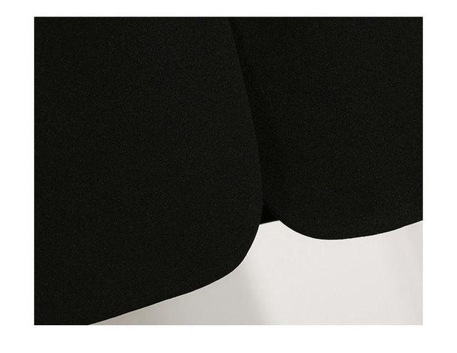 2021 Free Shipping Autumn Winter New Casual Blazer Coat Women Medium Long Slim Fashionable Versatile Business Suit Black Coats 6