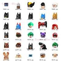 Figuras de PG084-PG119 de superhéroes, Batman, Joker, Lobezno, accesorios para la cabeza, Juguetes de bloques de construcción niños, serie 135