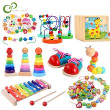 Dziecko drewniane zabawki edukacyjne zabawki Montessori wczesne nauczanie urodziny dziecka boże narodzenie noworoczny prezent zabawki dla dzieci GYH tanie tanio CN (pochodzenie) Urodzenia ~ 24 Miesięcy 8 ~ 13 Lat 2-4 lat 5-7 lat Chiny certyfikat (3C)