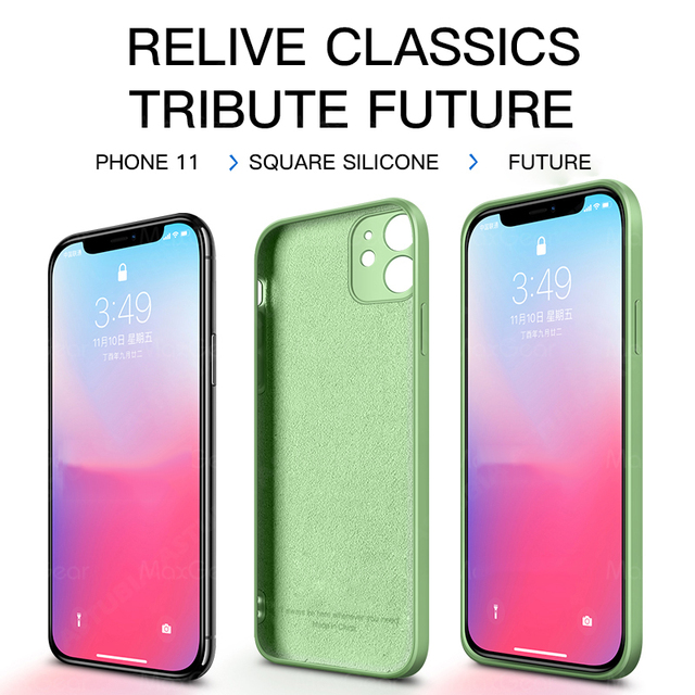 Luxury Liquid Silicone Case For iPhone 11 Pro Max 12 Protector Case For iPhone XS MAX XR X 7 8 6S PLUS SE2 2020 Cover With Strap 3