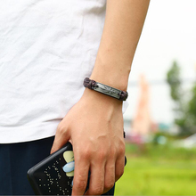 braided leather bracelet for men punk  braided Jewelry for women adjustable retro bracelet personalised student cuff wristband