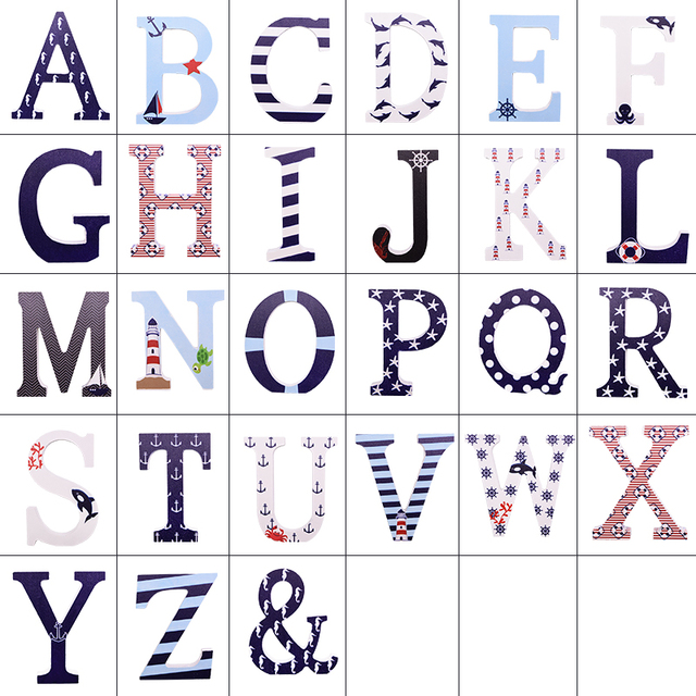 Multicolour 26 Alphabet Word Easter English Wooden Letters DIY Personalized Handmade Name Design Art Crafts Home Wedding Decor 6