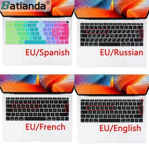 Euro Russian Spanish French Arabic Water Dust Proof keyboard Cover Skin for Macbook New Air 13 2019 2020 A2179 A1932 Touch ID