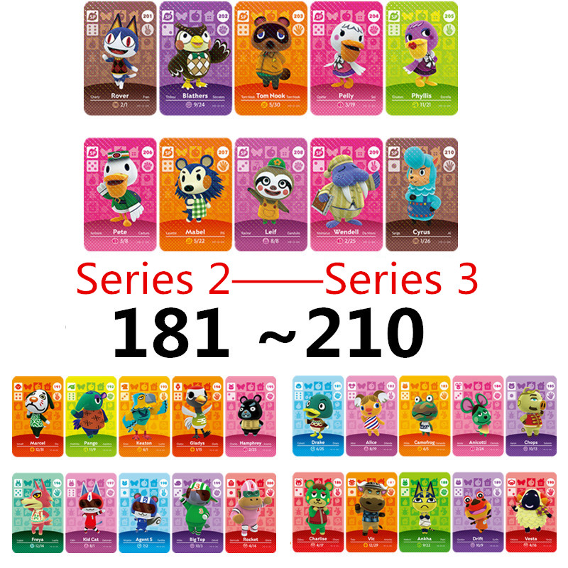 Animal Crossing Card Amiibo Card Work For NS Games Amibo Switch Amiibo Cards Welcome New Horizons NFC Series 3 2 (181 To 210)