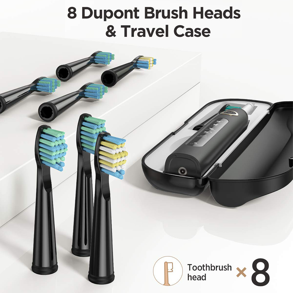 Fairywill Electric Sonic Toothbrush FW-507 USB Charge Rechargeable Adult Waterproof Electronic Tooth 8 Brushes Replacement Heads