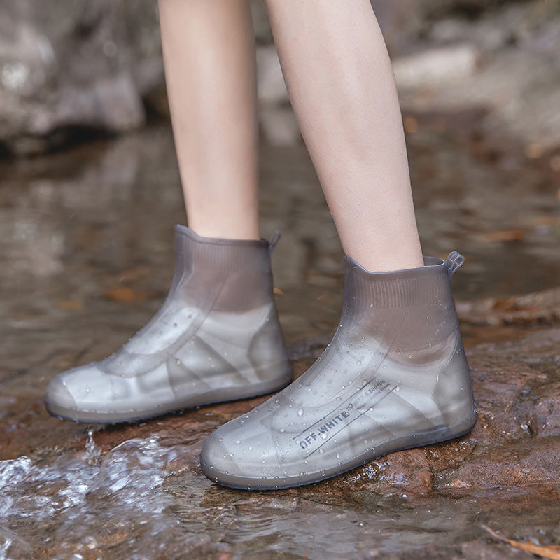Shoes Accessories 2021 Newly Shoes Cover Rain Boots Women Waterproof Galoshes Unisex Anti-slip Shoe Covers Water Boots for Rain