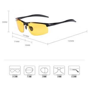Image 5 - NALOAIN للرؤية الليلية نظارات عدسات قطبية مكافحة وهج UV400 إطار معدني الأصفر القيادة نظارات للرجال النساء سيارة سائق 8177