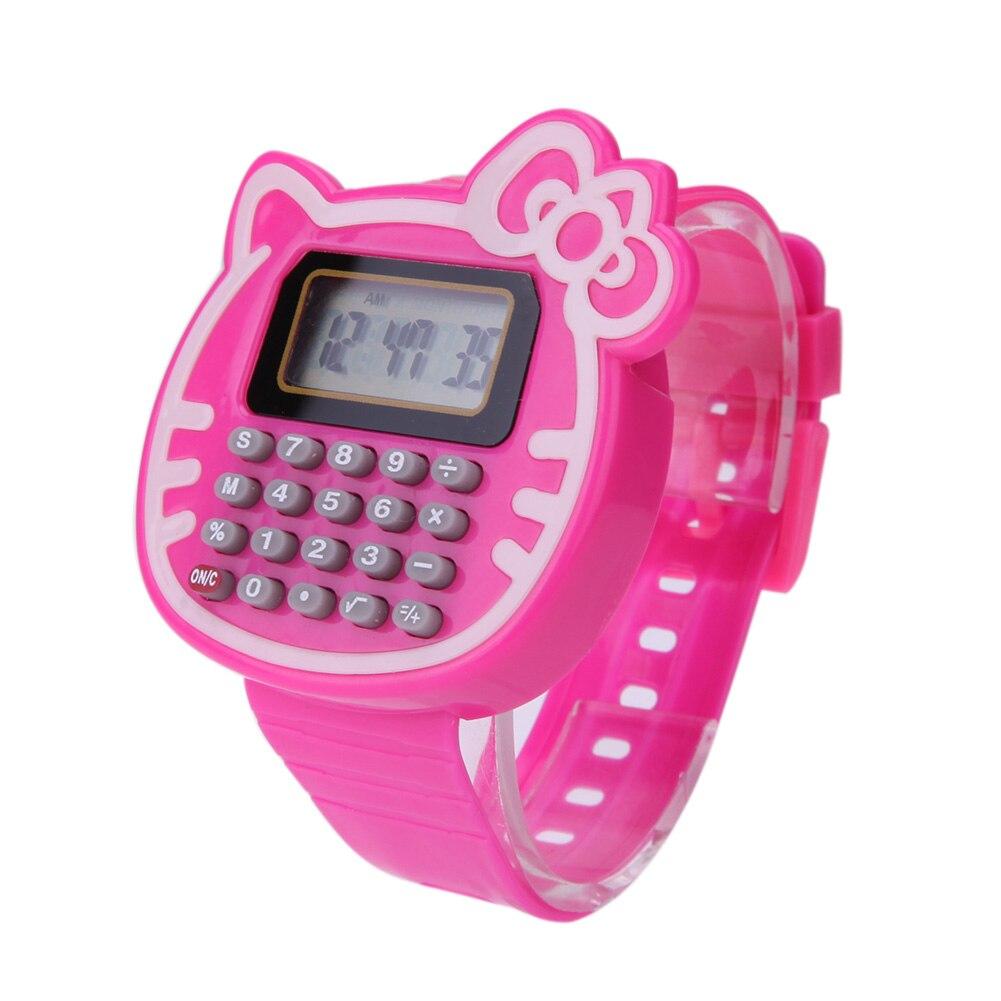 Montres numériques en Silicone pour enfants, garçon et fille, peut être utilisé comme calculatrice, Convient pour les enfants, montre-bracelet dexamen, cadeau, horloge