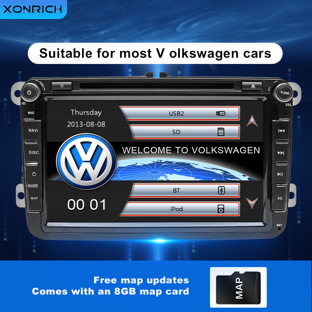 2Din Car DVD <font><b>Multimedia</b></font> AutoRadio For <font><b>Golf</b></font> 5 <font><b>6</b></font> VW Passat b6 Skoda Octavia 2 3 Superb Seat Leon 2 T5 Amarok <font><b>Volkswagen</b></font> Navigation image