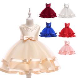 Детское платье ручная работа, браслет из бусин, платье принцессы, костюм для девочек 2-10 лет, детский сад, разноцветное платье, хлопок