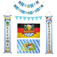 Oktoberfest декоративная Растяжка флаг вечерние Двери Подвесные украшения струны флаг для фестивалей вечеринки Октоберфест 20E
