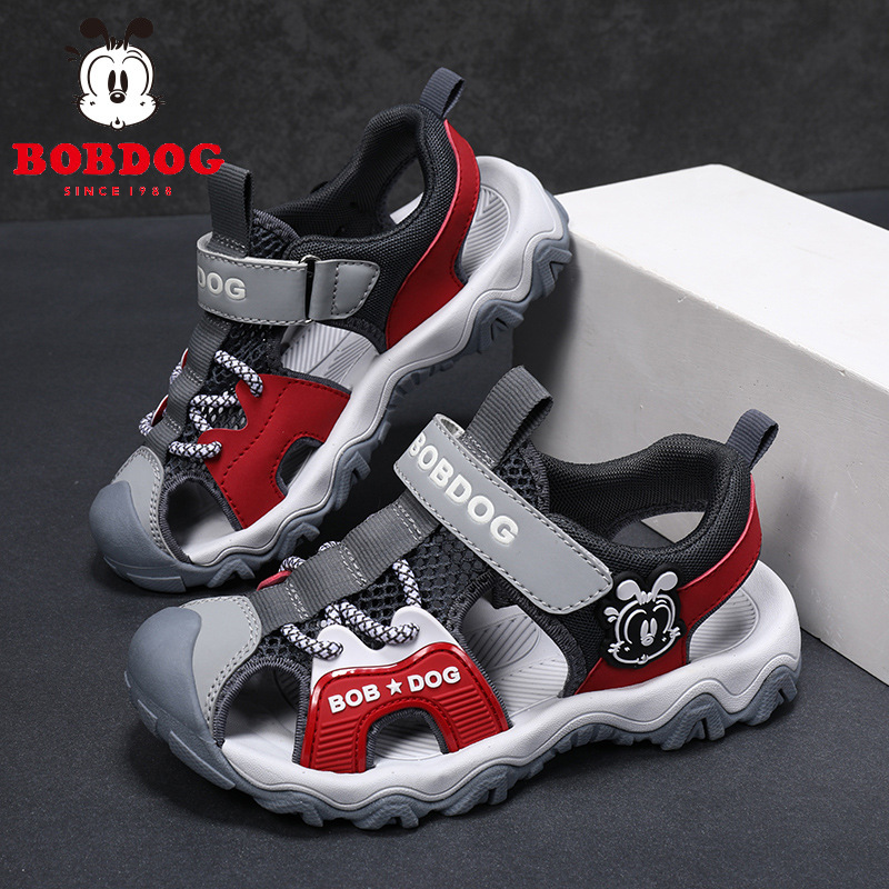 Original Bobdog Fashion Children's Baotou Sandals Boys Summer Soft Sole Non-slip Beach Shoes