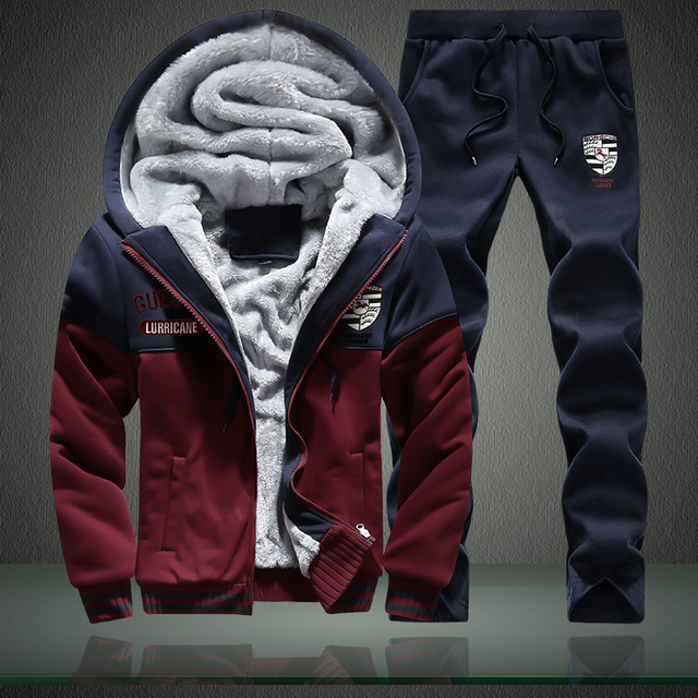 New Style Ferrari plus Velvet Hoodie Men's Sports Hooded Winter Set Fashion Long Sleeve Teenager Coat