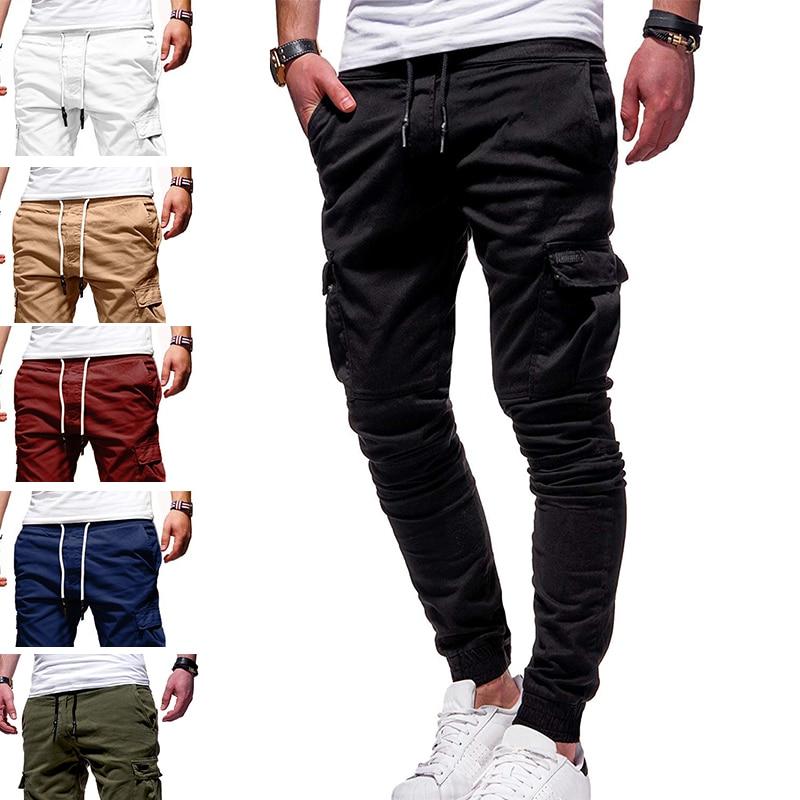 Men Casual Sports Pants Sweatpants Male Hip Hop Harem Pencil Pants Trousers Size S-3XL