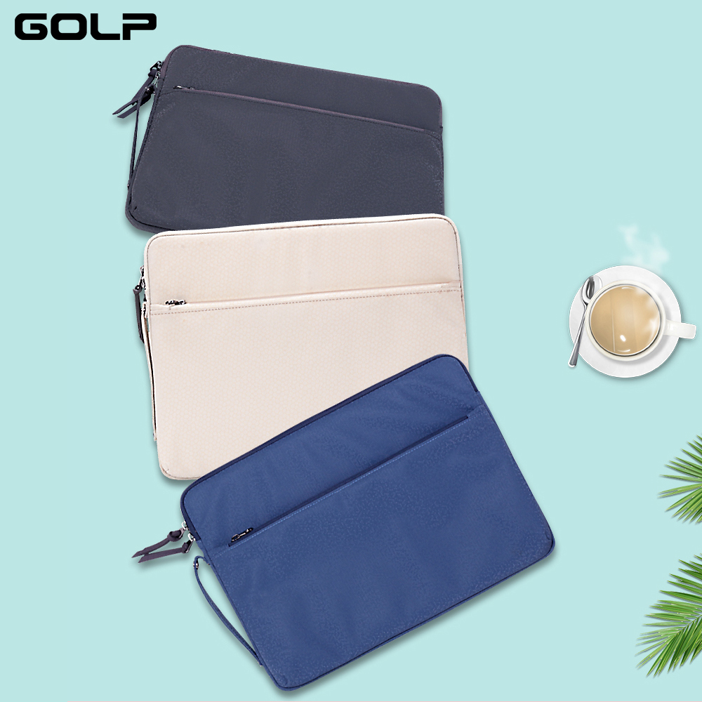 GOLP Laptop Bag Sleeve Case para Macbook Air Pro 11 12 13 13.3 15 15.4 Universal Notebook Capa Bolsa Maleta