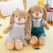 23 60 см новинка kawaii длинные уши кролик плюш животные мягкие