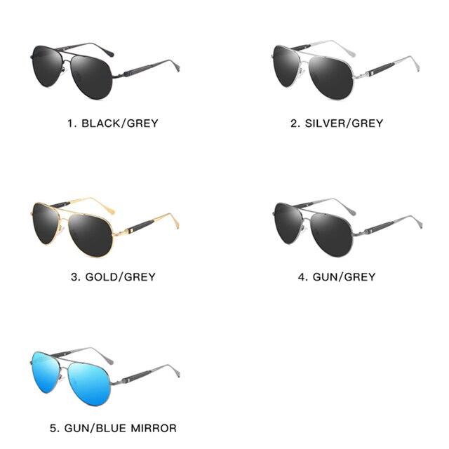 2020 Classic Retro Oversized Polarized Sunglasses for Men Women Driving Aviator Alloy Frame Sun Glasses UV400 Protection 4