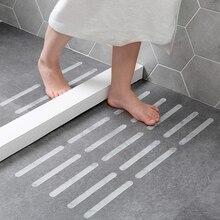 12PCS Anti-Slip Strips Shower Stickers Bath Safety Strips Transparent Non Slip Strips Stickers For Bathtubs Showers Stairs Floor bolland strips