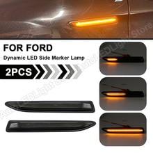 2PCS Für Ford Mondeo Mk4 Fließheck Limousine Estate (BA7) 2007 2015 dynamische Sequentielle LED Seite Marker Licht Blinker Lampe