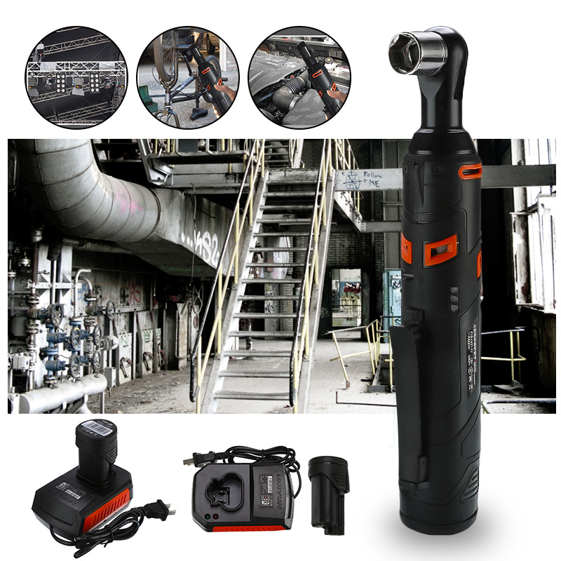 12V Electric Wrench Kit 3/8 Cordless Ratchet Wrench Rechargeable Scaffolding 60NM Torque Ratchet With Sockets Tools