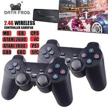 נתונים צפרדע Y3 לייט 10000 משחקים 4K משחק מקל טלוויזיה וידאו משחק קונסולת 2.4G אלחוטי בקר עבור PS1/SNES 9 אמולטור רטרו קונסולה