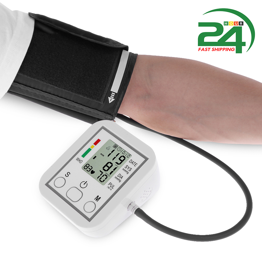 Digital Wrist Blood Pressure Monitor Pulse IHB Heart Beat Rate Meter Device Equipment Tonometer Mini Pulsometer Sphygmomanomete