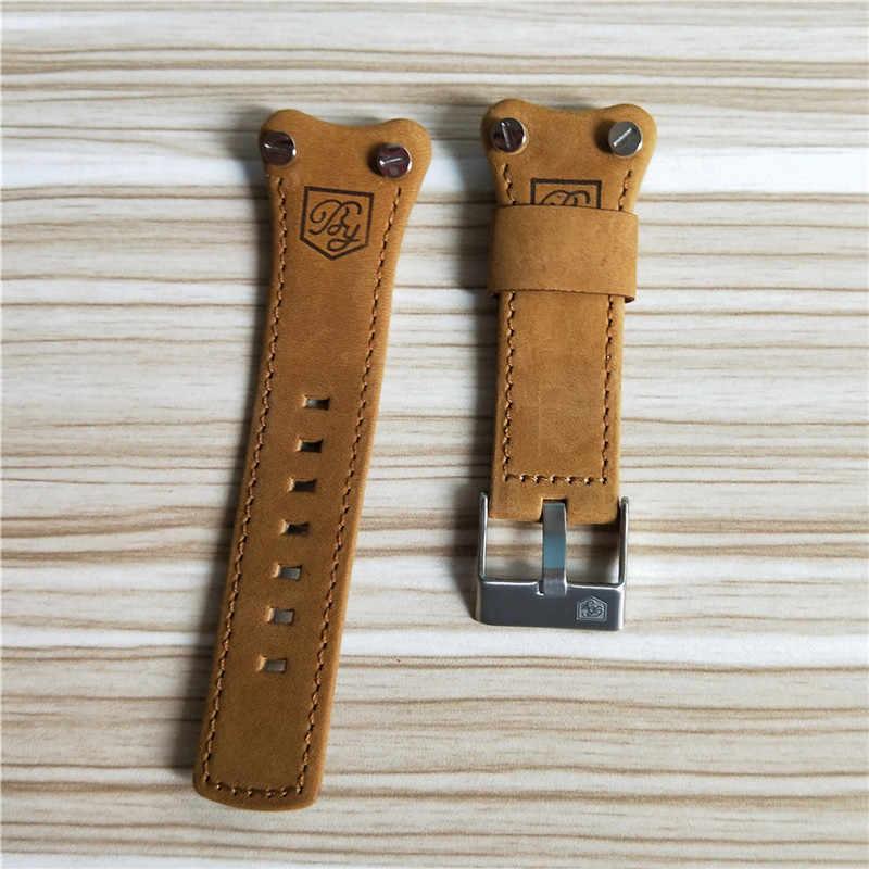 Benyar Orginal Echt Lederen Band Mannen Horlogebanden Bruin Zwart Riem band 22mm