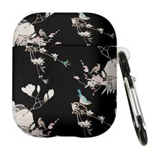 Ilustracja kwiatów i ptaków w stylu chińskim Airpods 2 akcesoria do słuchawek luksusowe etui na słuchawki do Apple AirPods Pro 3 tanie tanio CN (pochodzenie) Słuchawki Przypadki Airpods 1 Airpods 2 Airpods 3 LXM00581