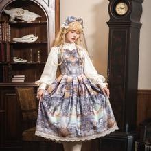 Dusk of the Gods~ винтажное печатное платье Lolita JSK от Miss Point~ на заказ