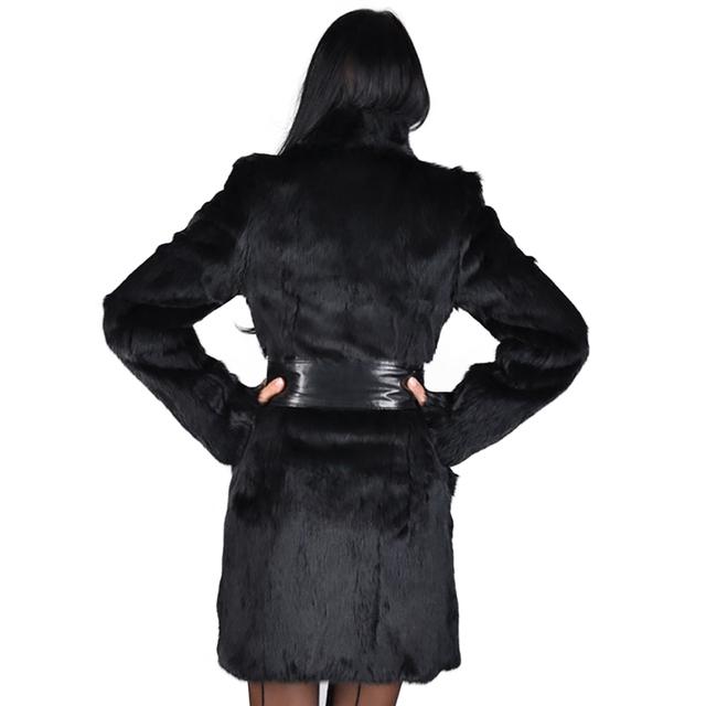 Faux Fox Fur Coats Women Winter Fashion Mid Long Warm Thick Jacket Luxury Female Black Outwear Women's Winter Fake Fur Coat D25