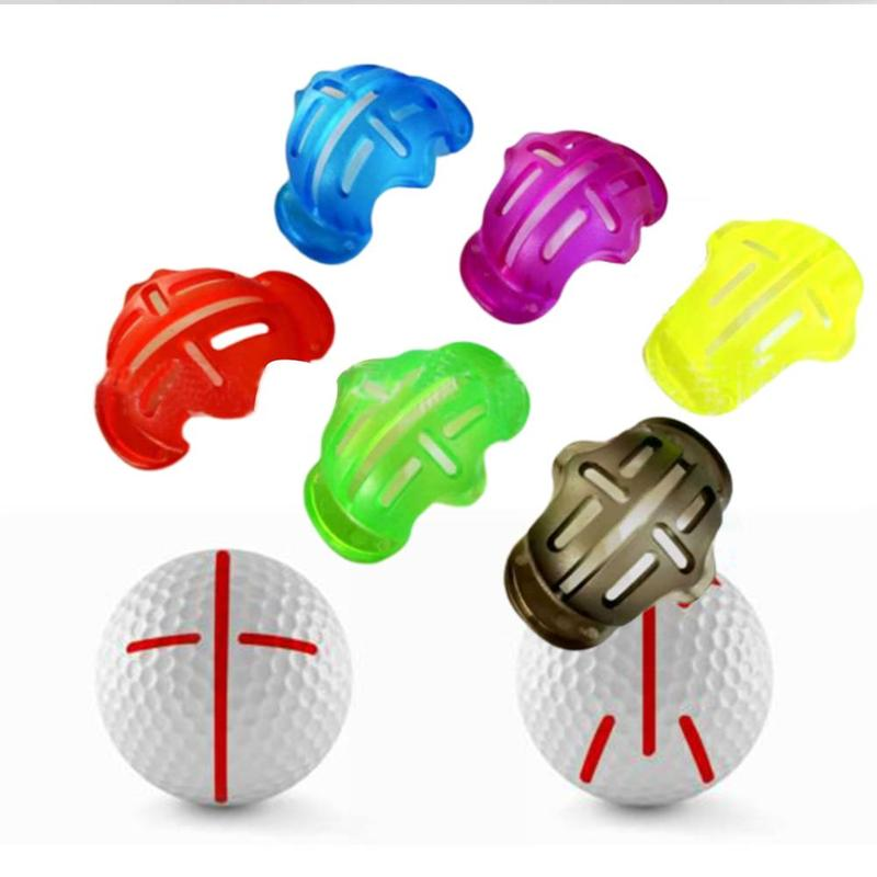 1PC Golf Ball Alignment Line Marker Marks Template Draw Mark Positioning Ball Clip Template Alignment Putting Putt Linear