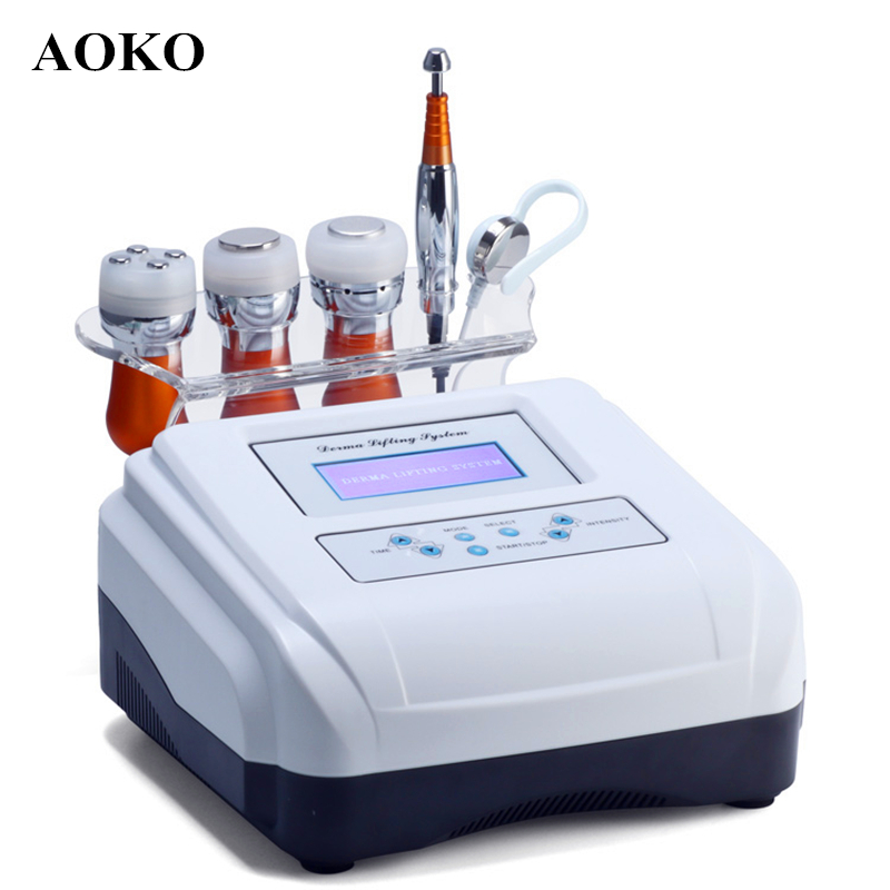 AOKO 5 In 1 EMS Electroporation Anti-aging RF Beauty Machine LED Beauty Device Face Lift Skin Cooling Tighten Eye Skin Care Tool