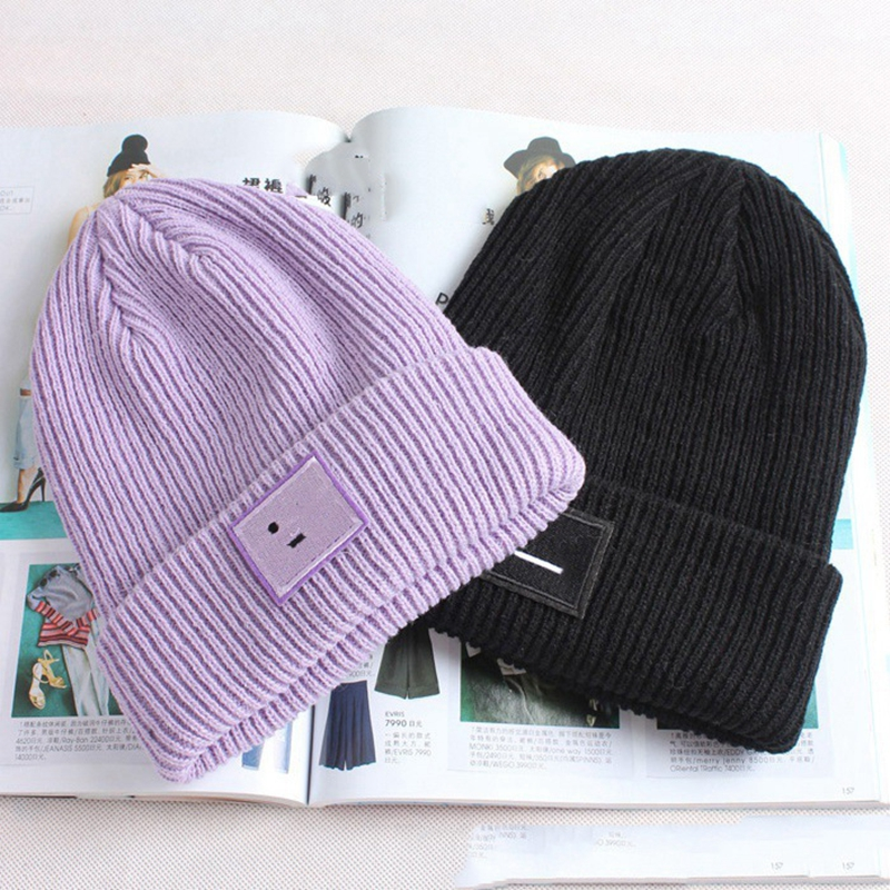 Fashion Solid Cute Autumn Winter Hats for Women Men Knitted Hat   Skullies     Beanies   Hats Female Gorros Mujer Invierno