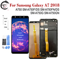 AMOLED LCD + рамка для SAMSUNG Galaxy A7 2018 дисплей A750 LCD SM-A750FN/DS A750F A750G A750GN сенсорный экран дигитайзер в сборе