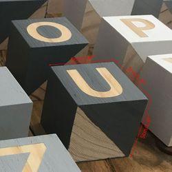 1 Set Bruiloft Club Decoratie 26 Engels Alfabet Vierkant Zwart Wit Cube Block Kids Kinderen Fotografie Props