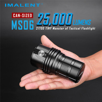 IMALENT MS06 Professional Flashlight 6 Mode 200-25000LM CREE XHP Led Lamp Rechargeable Torch Super Bright Lantern + 3 Batteries