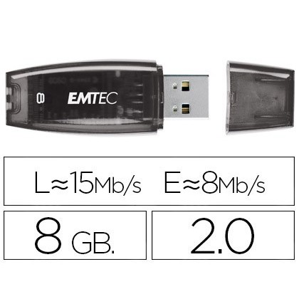 USB MEMORY EMTEC FLASH C410 8 GB 20 PURPLE