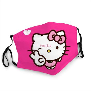 Hello Kitty Kawaii Mask Girl / Woman Antibacterial Washable Mouth Face Mask Hello Kitty Stickers Baby Children's Birthday Gift недорого