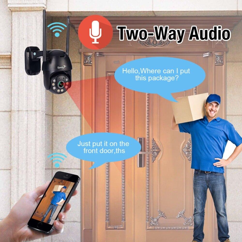 H51cfd6bf87644bfba4b5b8690747d83dj Zjuxin PTZ IP Camera WiFi HD1080P Wireless Wired PTZ Outdoor CCTV Security Camra Double light human detection AI cloud camera
