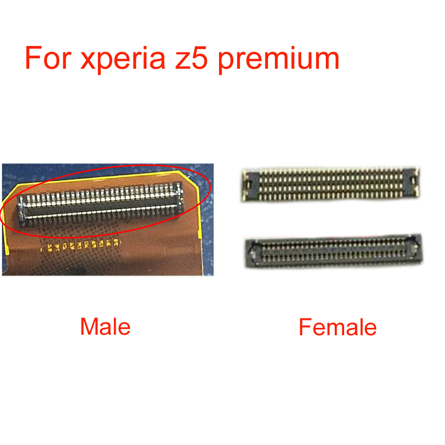 LCD display screen FPC connector For <font><b>Sony</b></font> Xperia <font><b>Z5</b></font> premium Z5P Plus 5.5