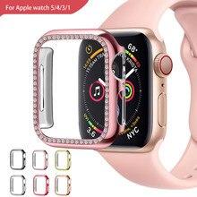 Farbe überzug schutzhülle templered glas für apple watch 44mm iwatch serie 5 4 3 2 schützen 100% die bildschirm 42mm 40mm 38mm