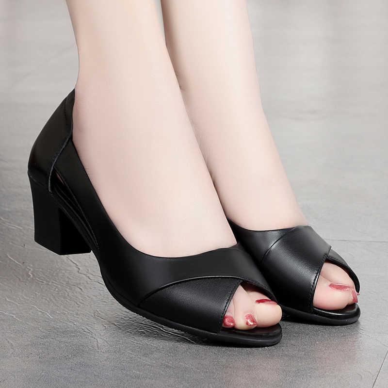 2020 Summer Women Dress Shoes Open Toe