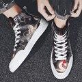 2019 neue Männer Casual Leinwand Schuhe Fashion Lace Up Sneakers frühling und herbst Atmungs Wohnungen Männlich Schuhe Vulkanisierte schuhe