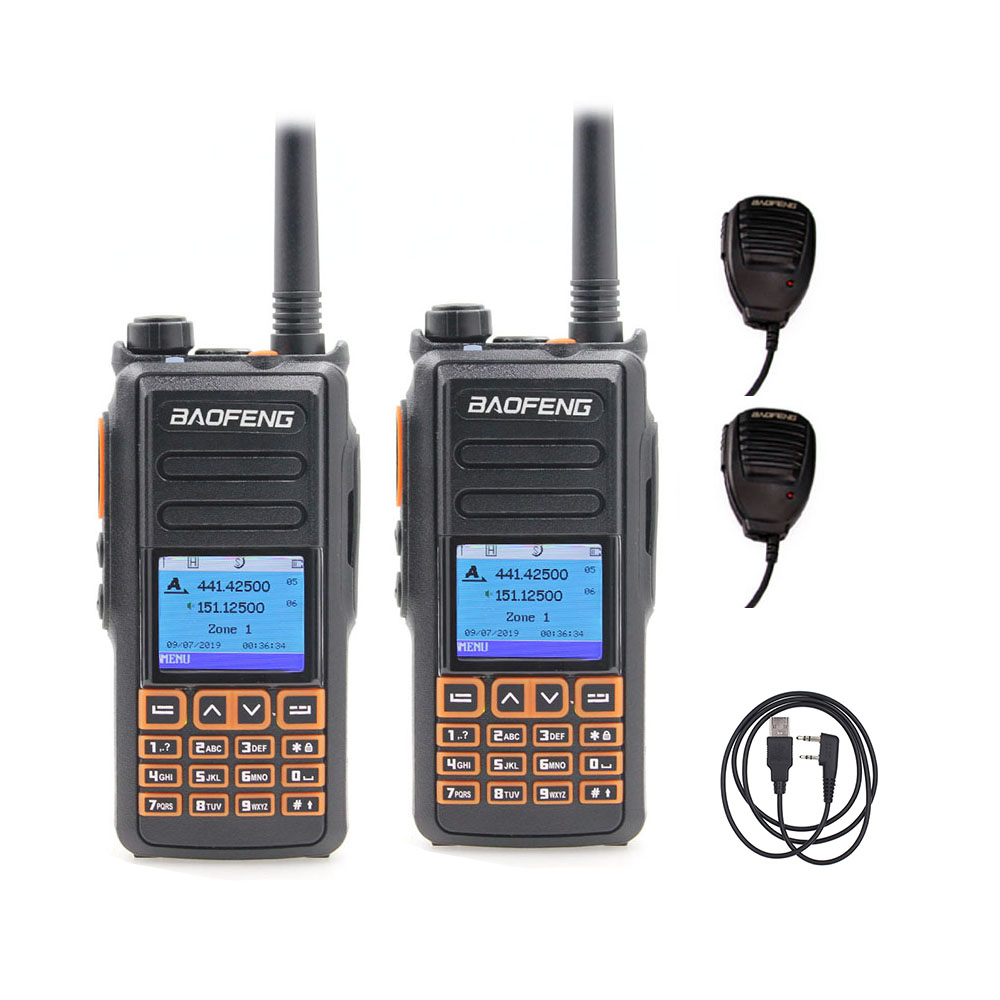 2PCS Baofeng Walkie-Talkie DMR Dual-Band Digital DM-X DM-1801 Digital/analog-Upgrade 1702