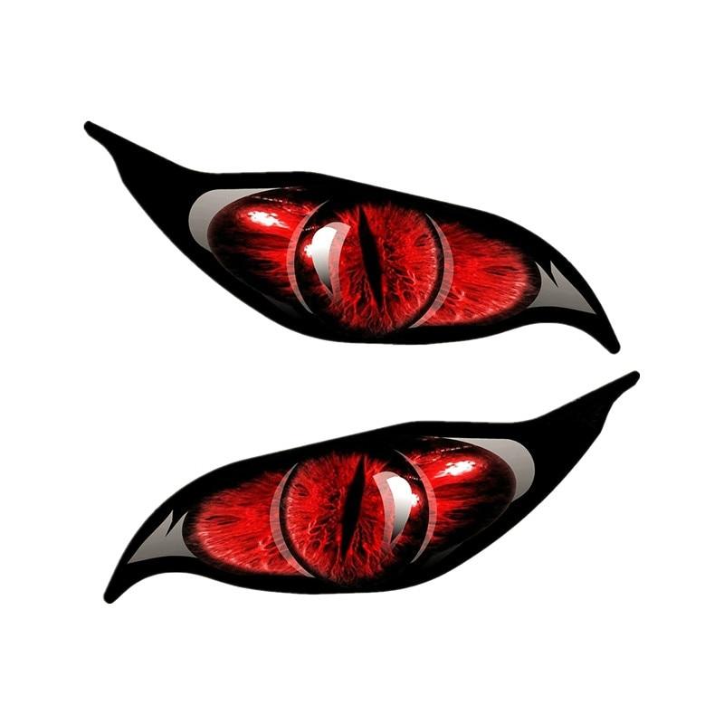 Creative Evil Eye 2pcs/Pair Eyes Car Sticker Accessories Vinyl PVC 13cm*12cm Motorcycle Car Styling Decal