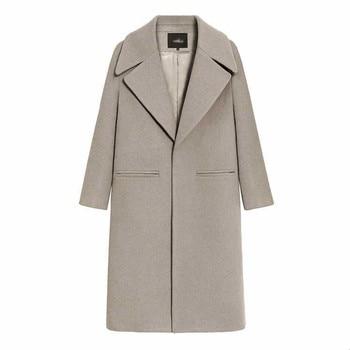 2019 New Women Coat Fashion  Blended Women Coat Slim Long Wool Coat Spring Autumn Women Wool Coats Popular Jackets 3