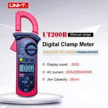 цена на UNI-T UT200B LCD Digital Clamp Multimeter Backlight Ohm DMM DC AC Voltmeter AC Ammeter