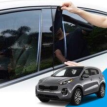 Auto Styling PVC Auto Fenster Säule Trim Aufkleber Nahen BC Spalte Aufkleber Externe Zubehör Für Kia Sportage SL QL 2010 2020
